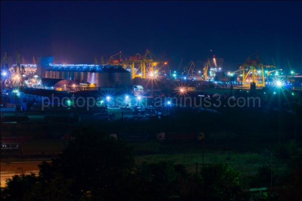 Constanta Port by night
