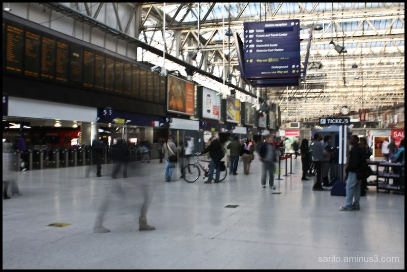 London Waterloo Station!