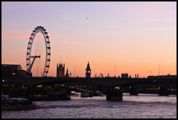 London at Twilight!!