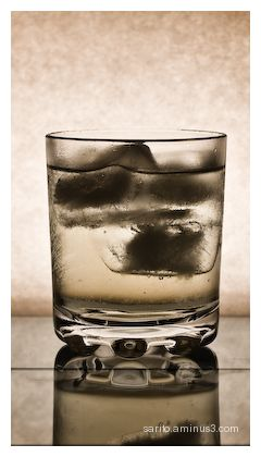 Glass, Water and Ice.