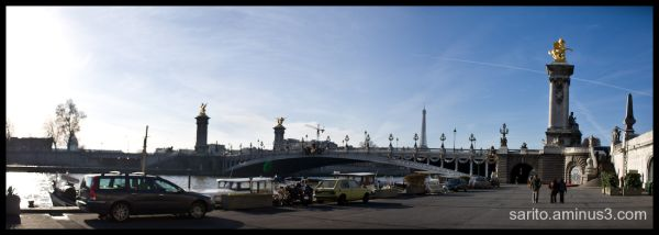 Ponte Alexandre III...