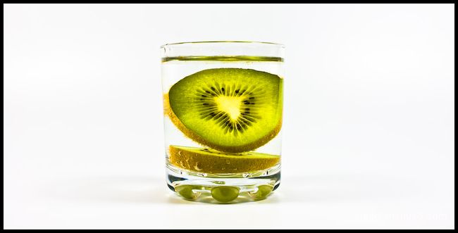 Kiwi in a glass...