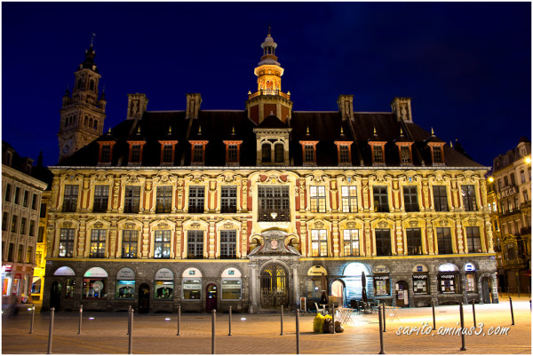 Vieille Bourse at Night