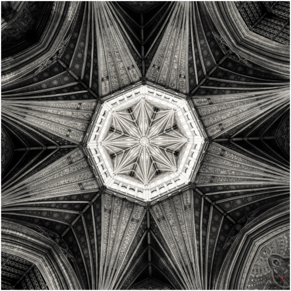 Ely Cathedral - Octagon B&W