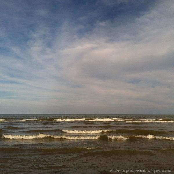 the sea was grey