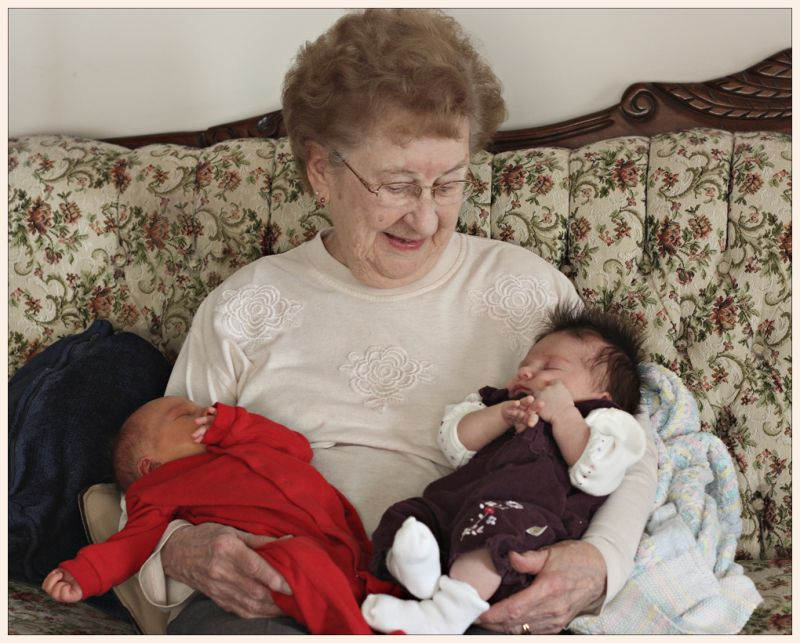 meeting Great Grandma for the first time