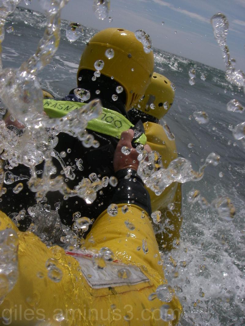 Water Rescue Training off Seaton Beach Devon UK