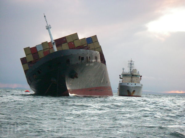 MSC Napoli aground off the Devon Coast