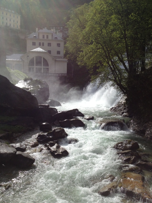 hydro electric waterfall bad gastein austria