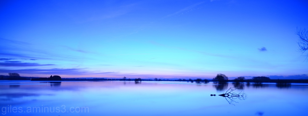 Dawn over Muchelney, Somerset