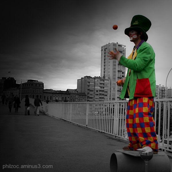Clown sur la ville