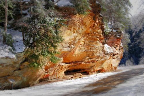 Slate, stone, Ice, Snow