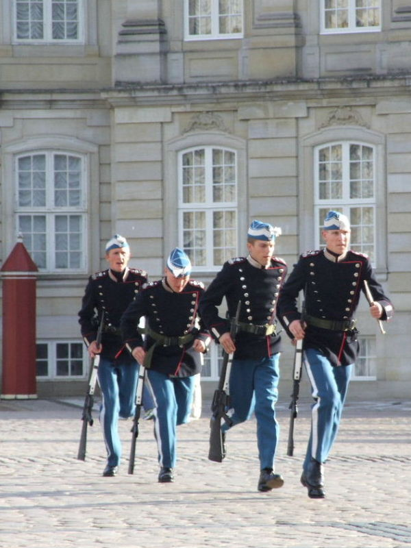 Guards at the Queen's palace Copenhagen
