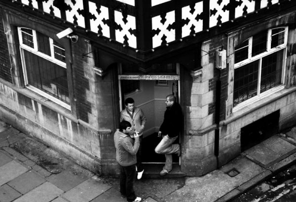 corners, Chester, people, streets, city, urban