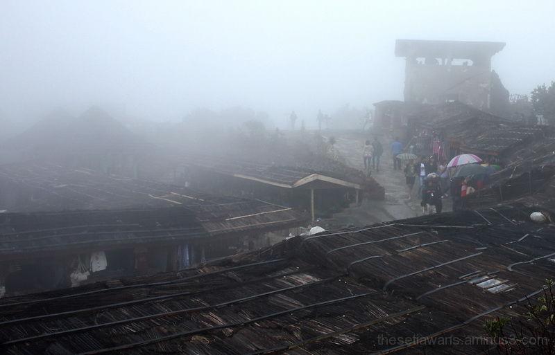 Tangkuban Perahu fog covered