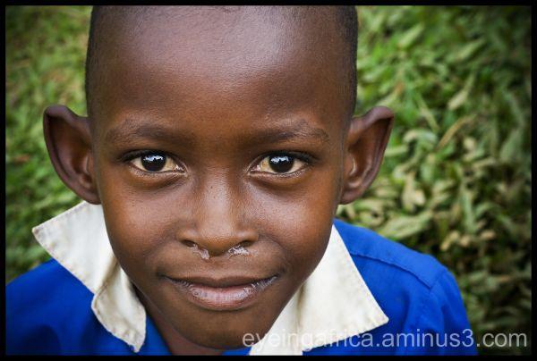 Ugandan Boy in School Uniform