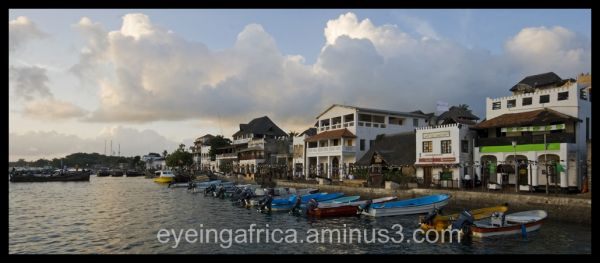 Lamu Harbor In Kenya