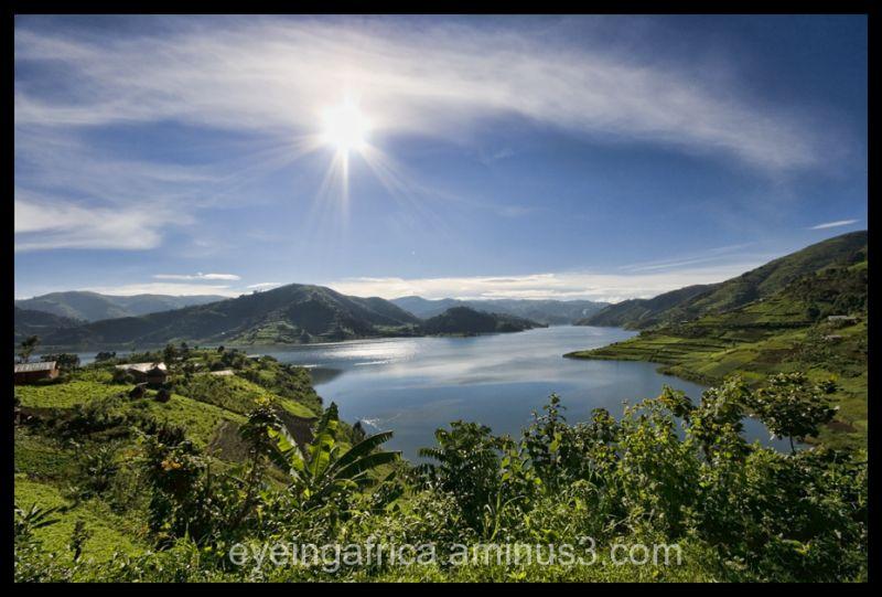 Sun shining over Uganda/DRC