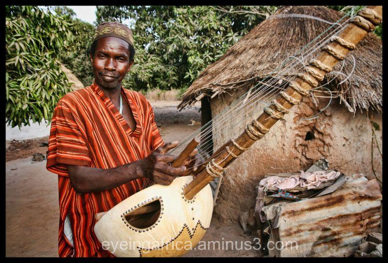 Kora Player / Griot In Hela Kunda, The Gambia