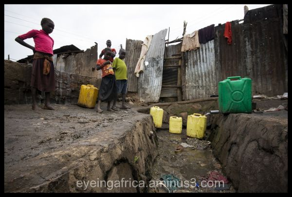 Water source in Karamojong Slum, Kampala - Uganda