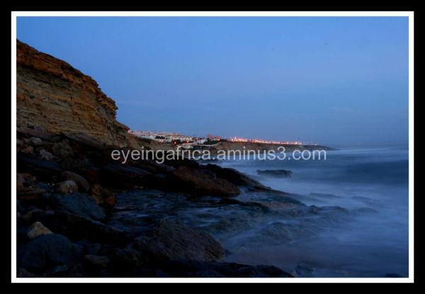 Seascape as the sun sets over Spain