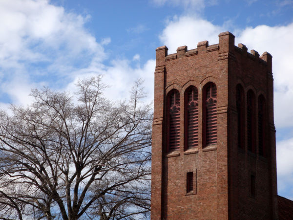 Tower of Bidwell Presbyterian Church