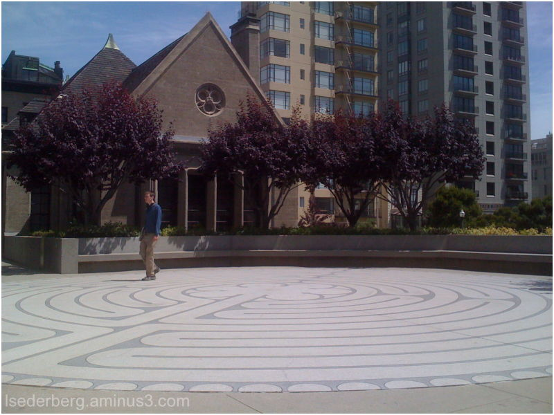 Labyrinth outside Grace Cathedral