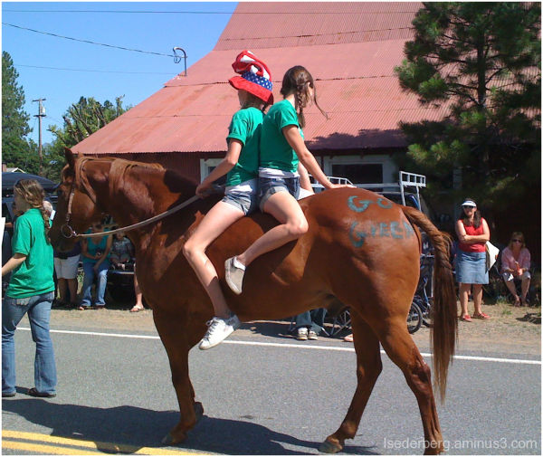Horseback and horsefront riding