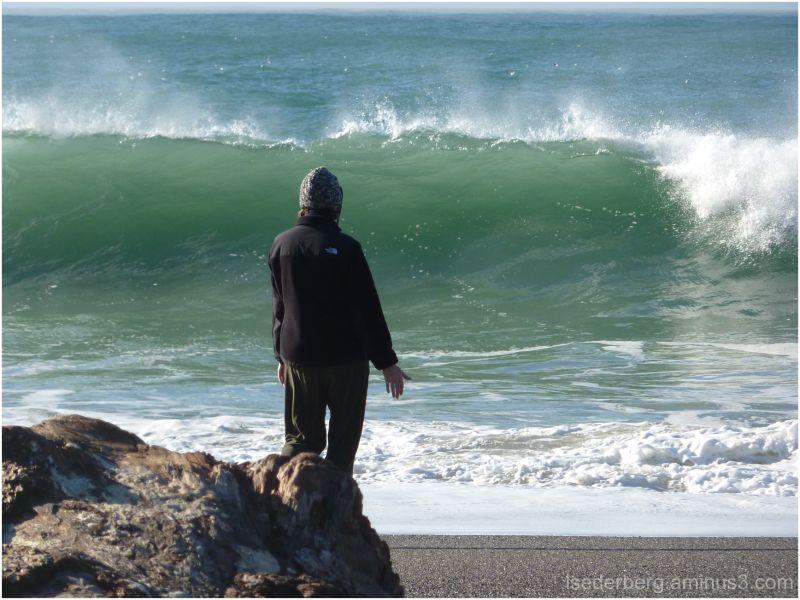 Meditating on the surf