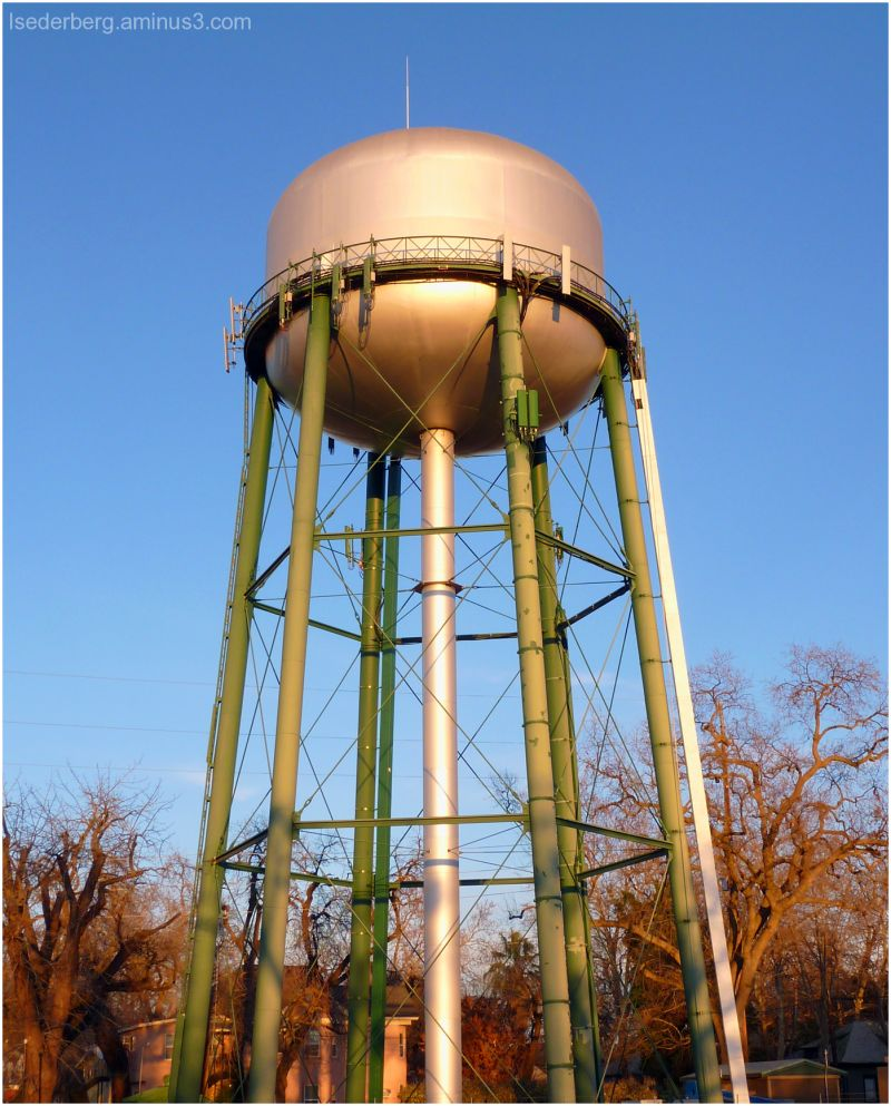water tower in Chico