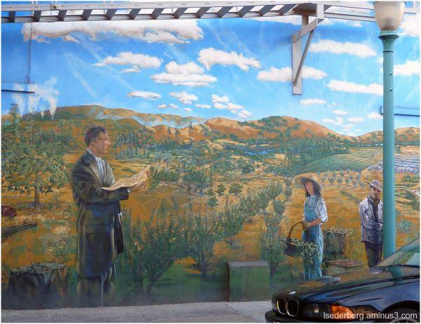 Mural in Healdsburg