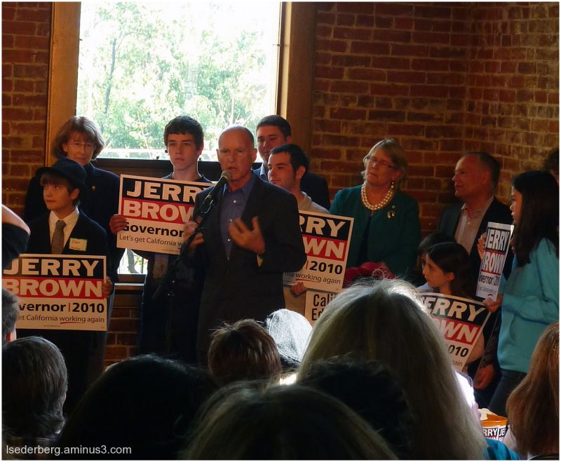 Jerry Brown in Chico