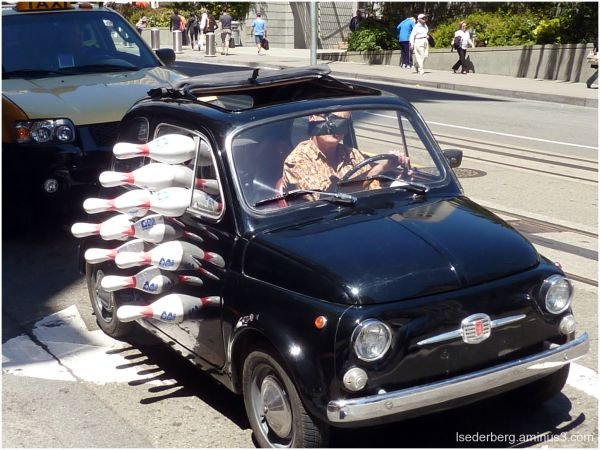 Fiat that goes bowling