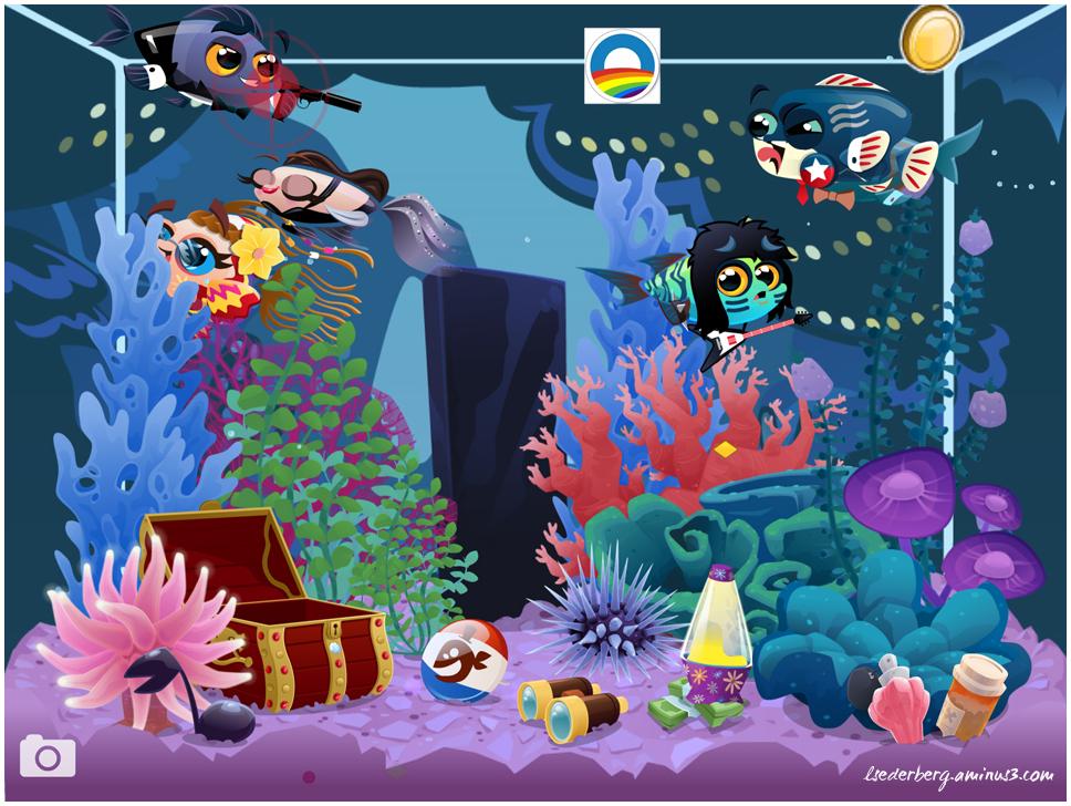 Fish vote for Obama