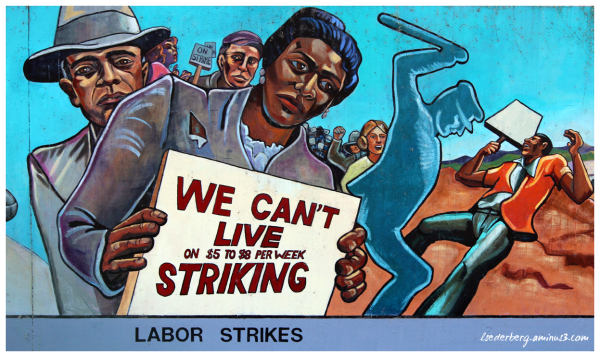 Mural: Labor strike