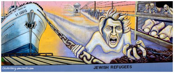 Mural: Jewish refugees