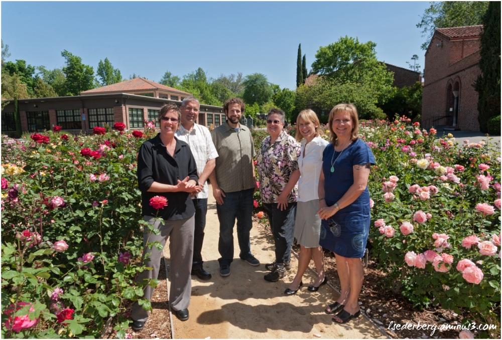 Staff at rose garden