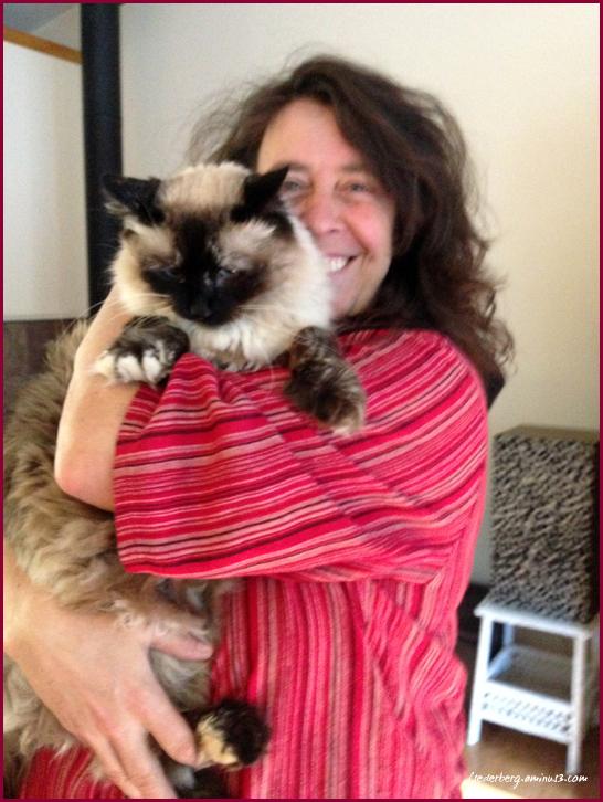 Claudia and her cat