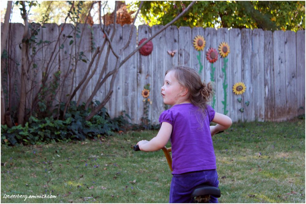 Grace in yard