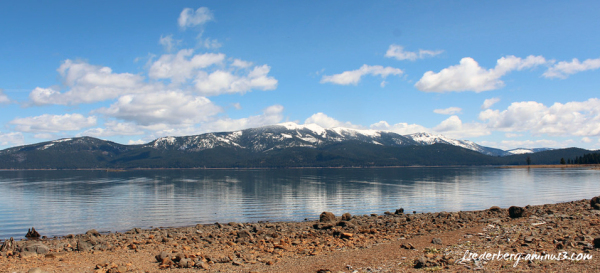 Mt Dyer over Lake Almanor