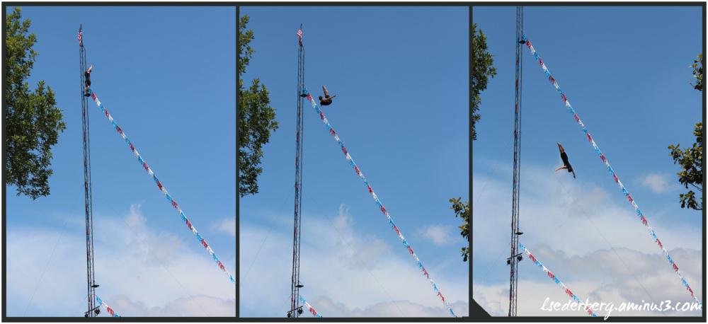 High diver at the Fair