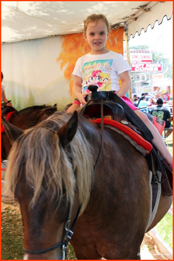 Pony riding at the Fair