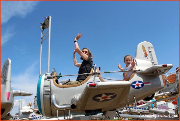 Airplane ride at the Fair