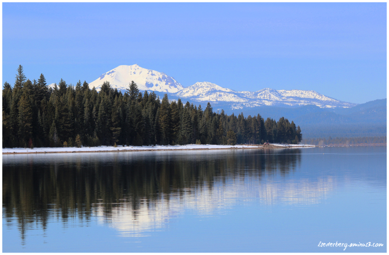 Mt Lassen winter from Lake