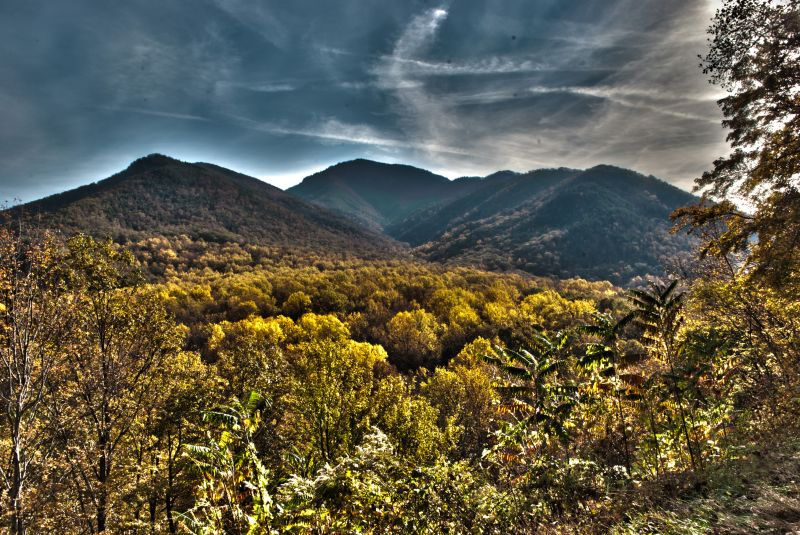 Great Smokey Mountains National Park landscape HDR