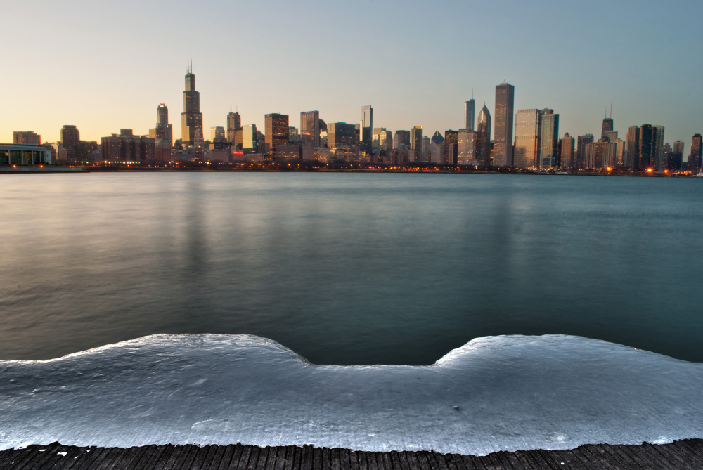 Chicago Skyline from the Adler Planetarium