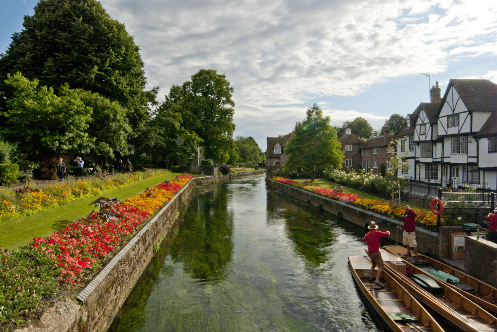 The Stour flowwing through Canterbury