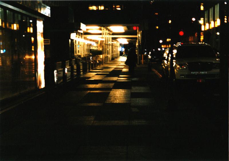 Reflection on a sidewalk
