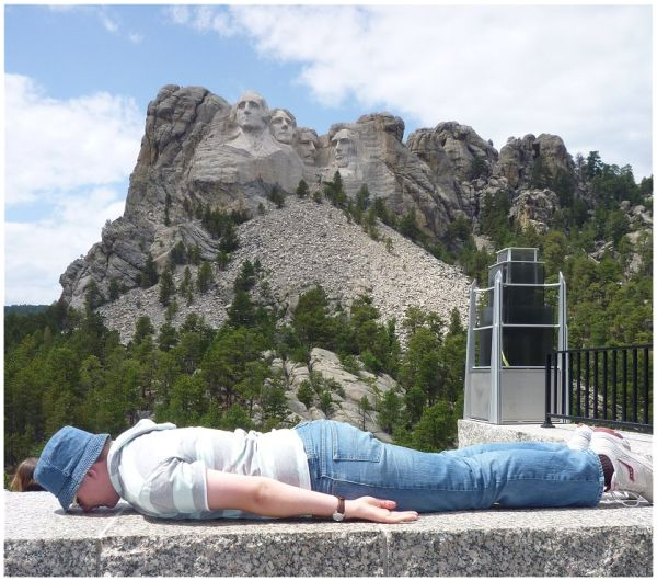 Face Down at Mount Rushmore