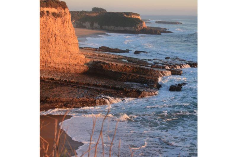 beach cliff coast